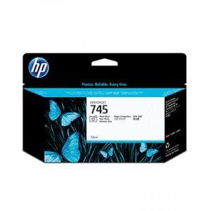 HP 745 130-ml Photo Black DesignJet Ink Cartridge HP