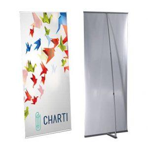 CHARTI Premium L Banner Top Bar (Top and Bottom bar at 850mm L-Banner 2