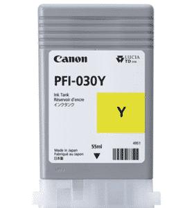 Canon PFI-030Y Yellow Ink – 55ml Canon