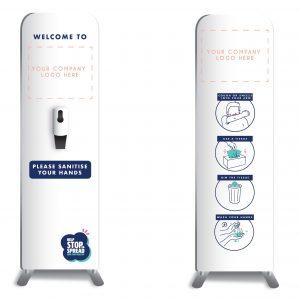 CHARTI Sanitizer Dispenser Stand 750x2000mm Cleaning & Hygiene