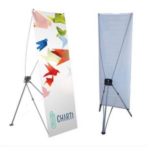 CHARTI X Banner Stand 800 x 1800mm X-Banner 2